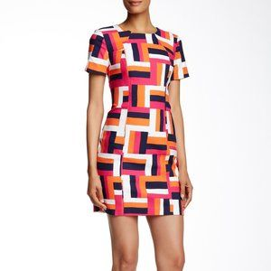 Trina Turk 6 Emilie Geometric Sheath Dress Lined